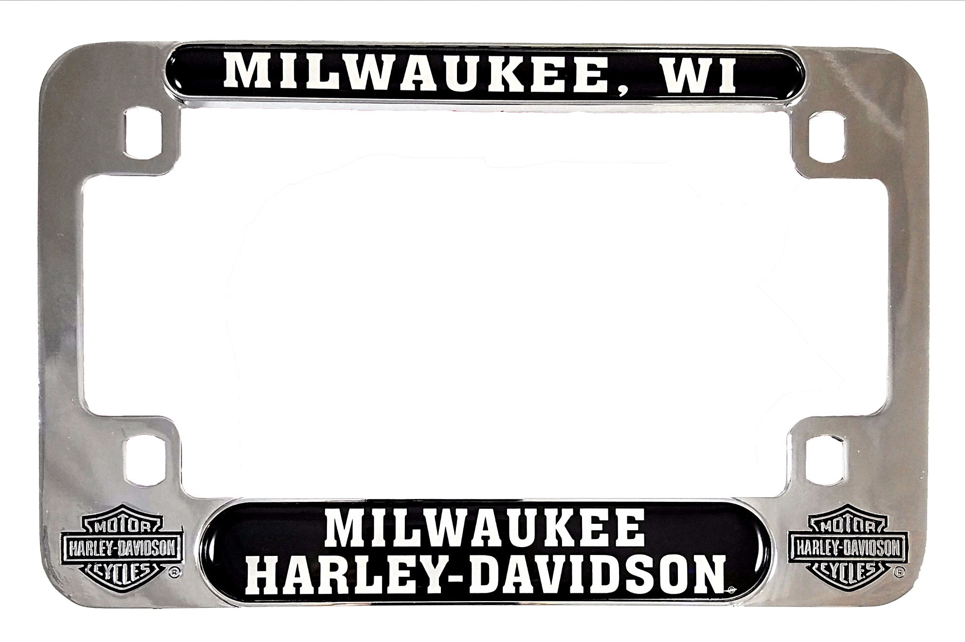 Milwaukee Harley-Davidson Motorcycle License Plate Frame