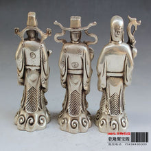 Silver Chinese Mythical Three Wealth Immortals
