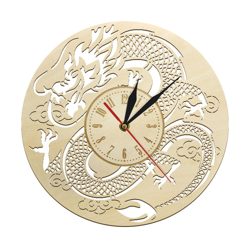 Dragon Prosperity Wall Clock Wood