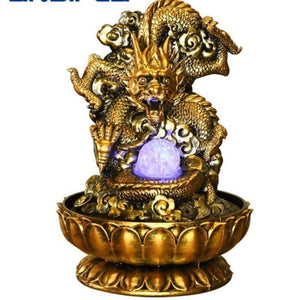 Powerful Feng Shui Dragon Statue Flowing Water Fountain