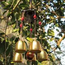 Outdoor Living Wind Chimes Yard Retro Garden Tubes Bells Copper Home Windchime Chapel Bells Wall Hanging Home Decor