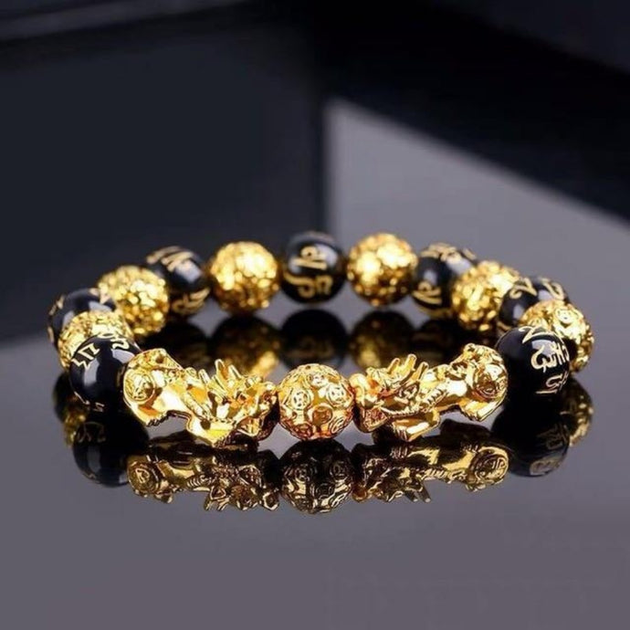 Wealth Enhancer Gold plated Bracelet Feng Shui Good luck prosperity