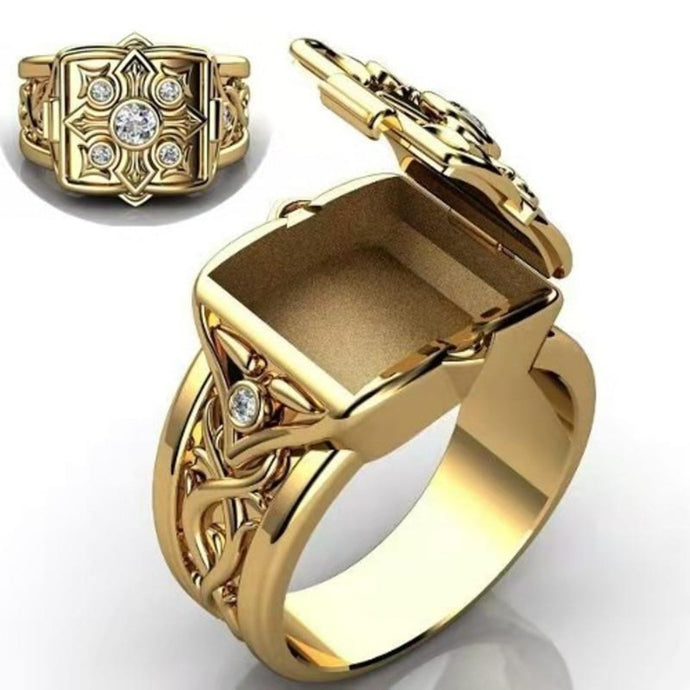 UNISEX GOLD WISH RING Wear this with intention inside and it will come to you.