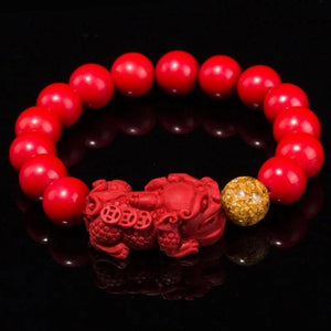 Unisex Men Bracelet Chinese FengShui Pi Xiu Cinnabar Bracelet For Women Wristband Gold Wealth Rich Health Lucky Bracelets