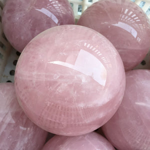 Natural Rose Quartz Crystal Sphere