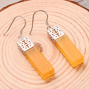 LOVE ATTRACTION ENHANCER Gorgeous Drop Earrings Double Happiness symbol