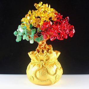 Lucky Wealth Money Crystal Tree