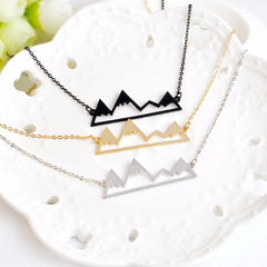 Cute snowy mountain necklace
