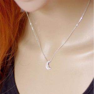 Minimalist Crescent Moon Necklace