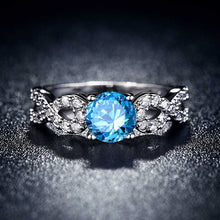White Gold Filled Birthstone Ring