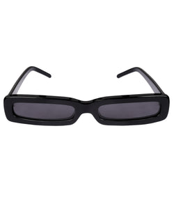 George Keburia Square Frame Micro Women Black Sunglasses