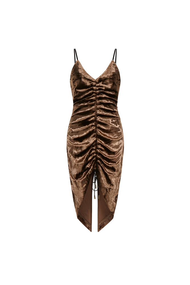 Mimi Golden Dress  - THE BOX BOUTIQUE