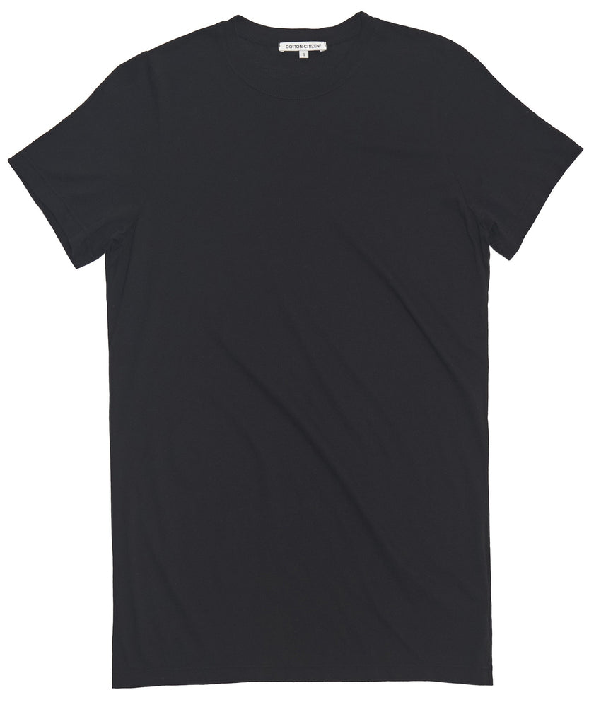 Women's Classic Crew Tee Black - THE BOX BOUTIQUE
