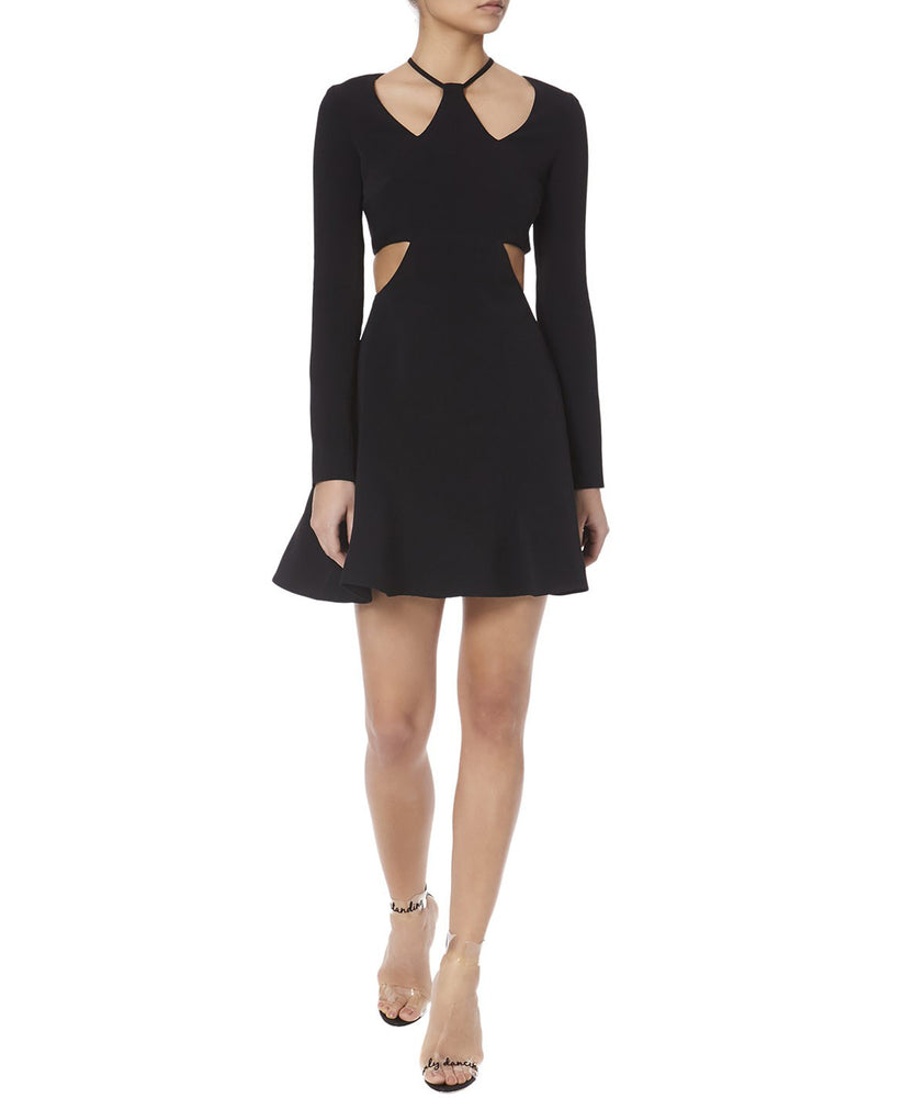 TRIANGLE CHEST AND WAIST CUTOUTS DRESS - FONT VIEW - THE BOX BOUTIQUE
