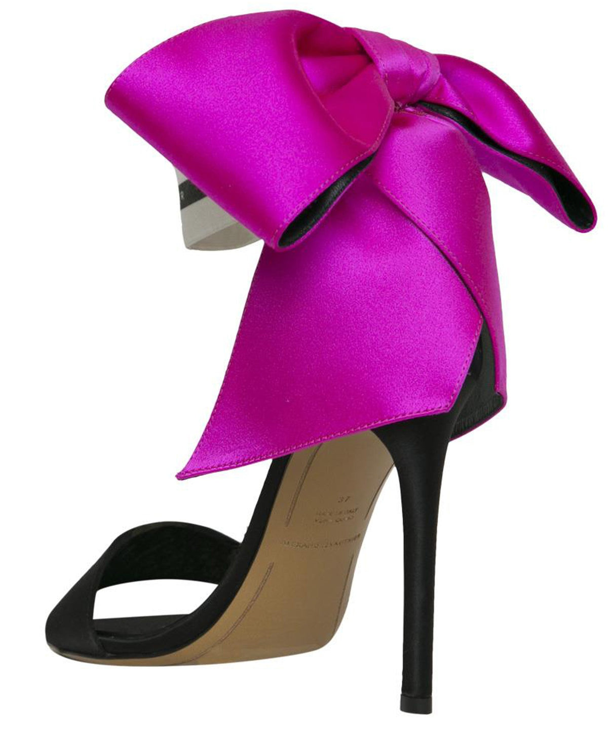 BOW DOWN SANDALS WITH FUCHSIA BOW  BACK VIEW - THE BOX BOUTIQUE
