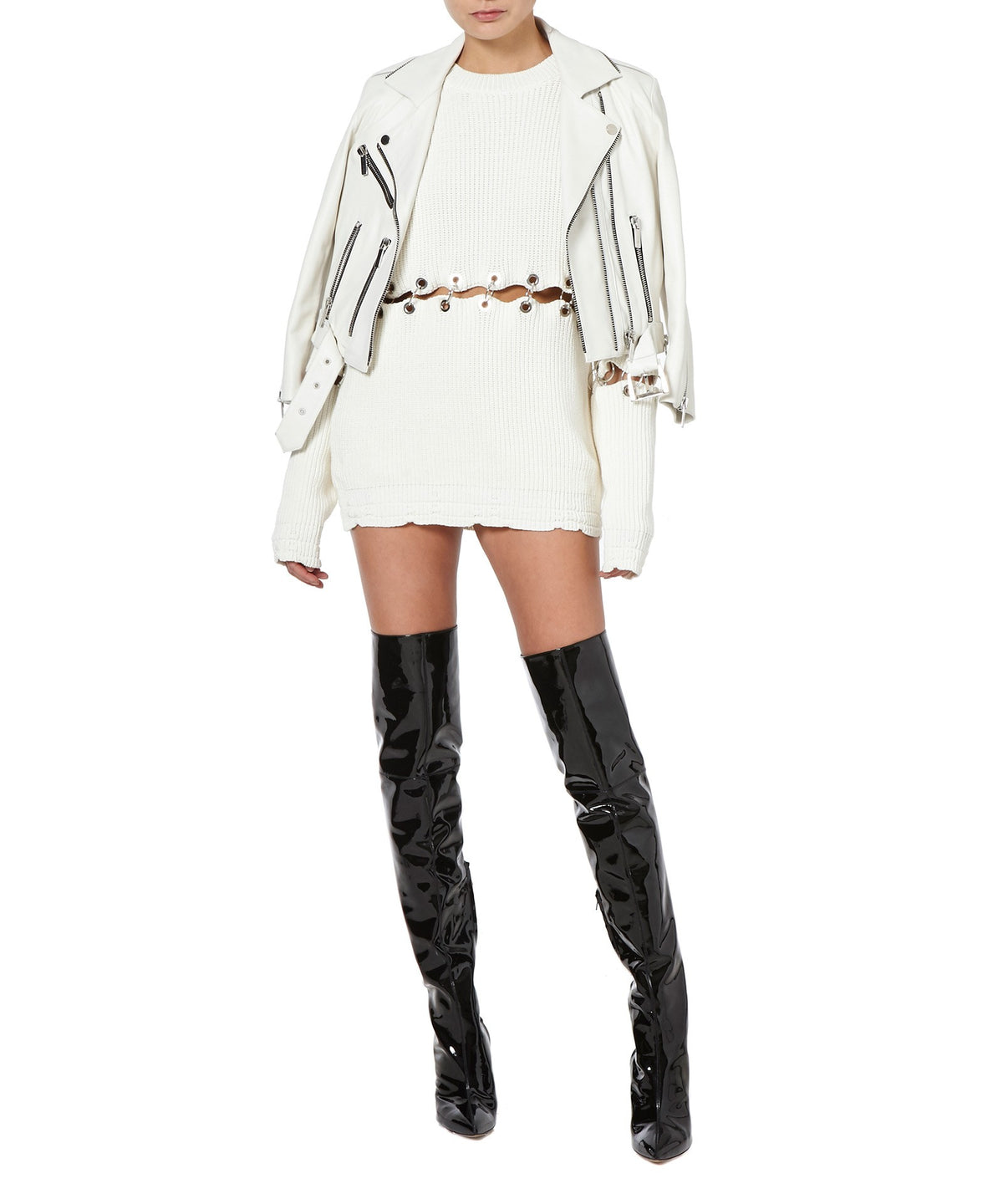 TONI THIGH HIGH BOOTS  FONT VIEW - THE BOX BOUTIQUE