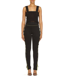 ZIP LEGGINGS-FRONT VIEW-THE BOX BOUTIQUE
