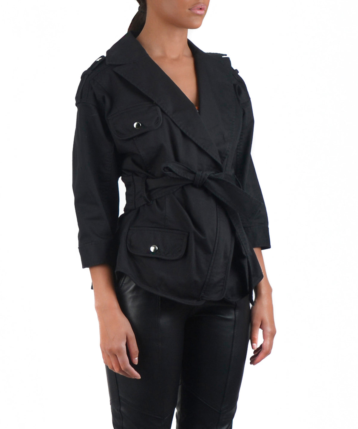 JULIE WASHED JACKET -SIDE VIEW - THE BOX BOUTIQUE