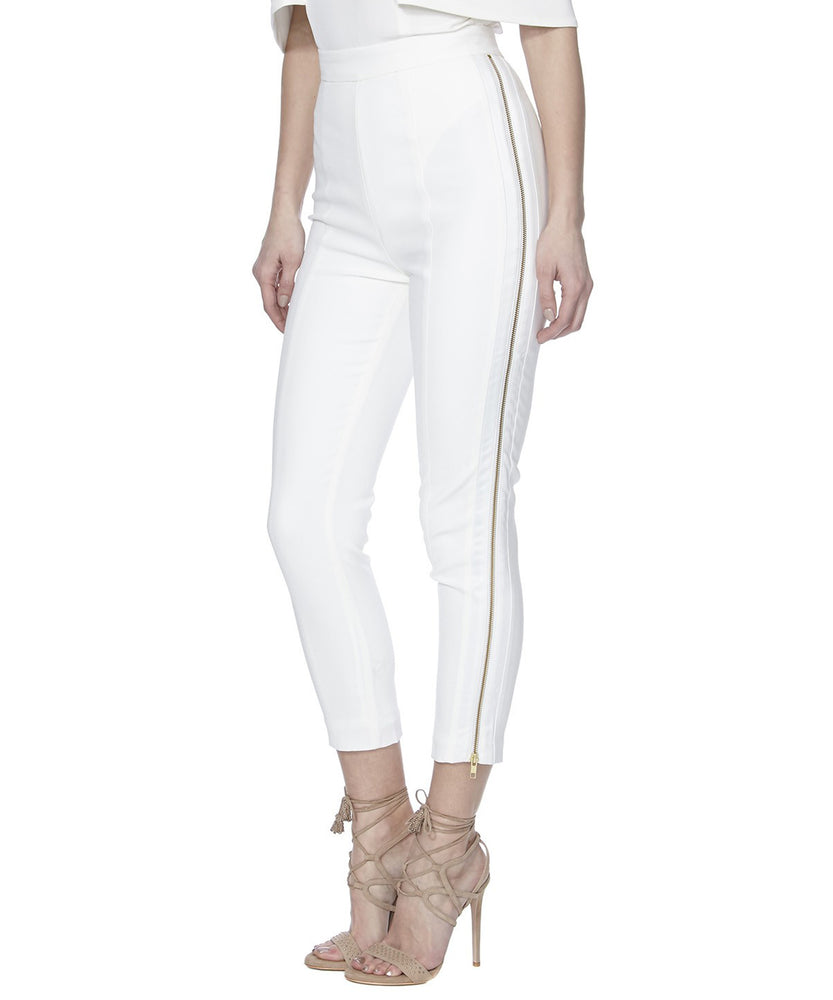 ALTHEA PANTS IN WHITE - SIDE VIEW - THE BOX BOUTIQUE