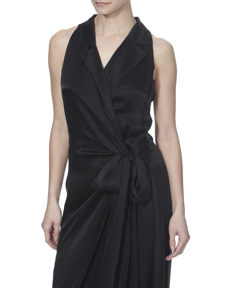 JAVANA SILK DRESS - SIDE VIEW - THE BOX BOUTIQUE