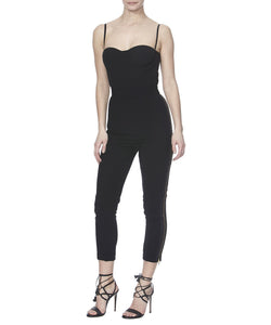 ALTHEA PANTS IN BLACK - FRONT VIEW - THE BOX BOUTIQUE