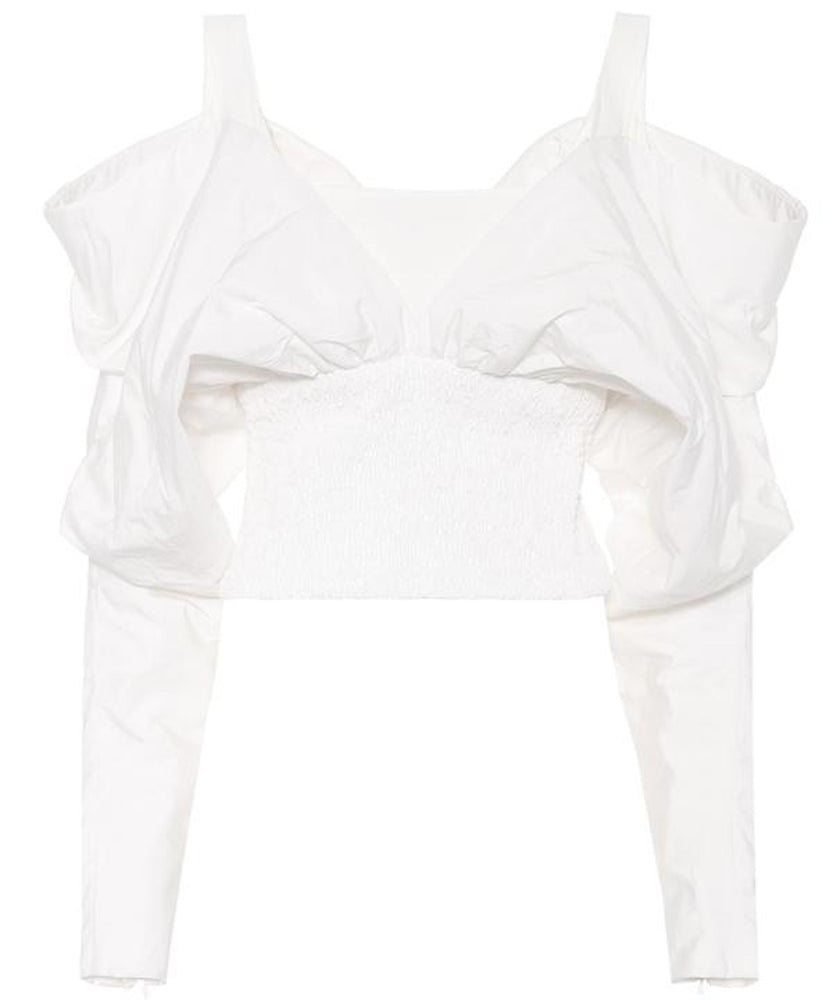 OFF-SHOULDER WHITE TOP - THE BOX BOUTIQUE