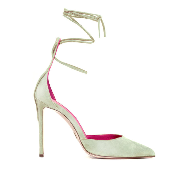 MIRTHA SATIN PUMPS-LEATHER SANDALS-SIDE VIEW-THE BOX BOUTIQUE