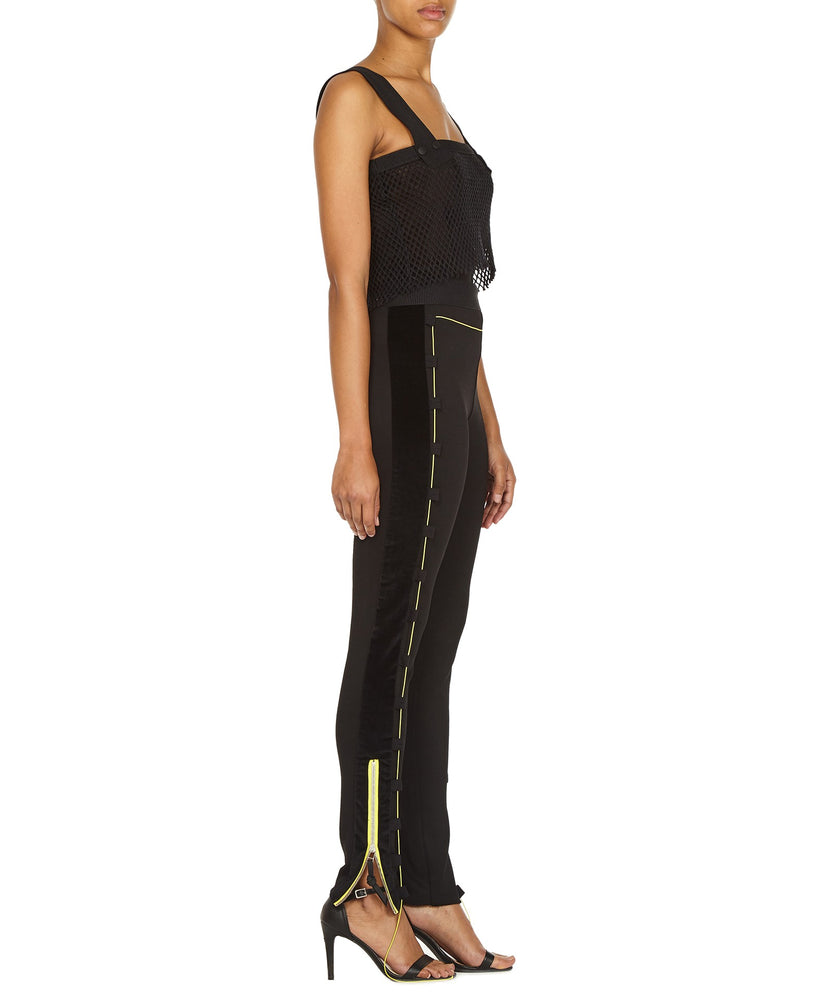 ZIP LEGGINGS-SIDE VIEW-THE BOX BOUTIQUE
