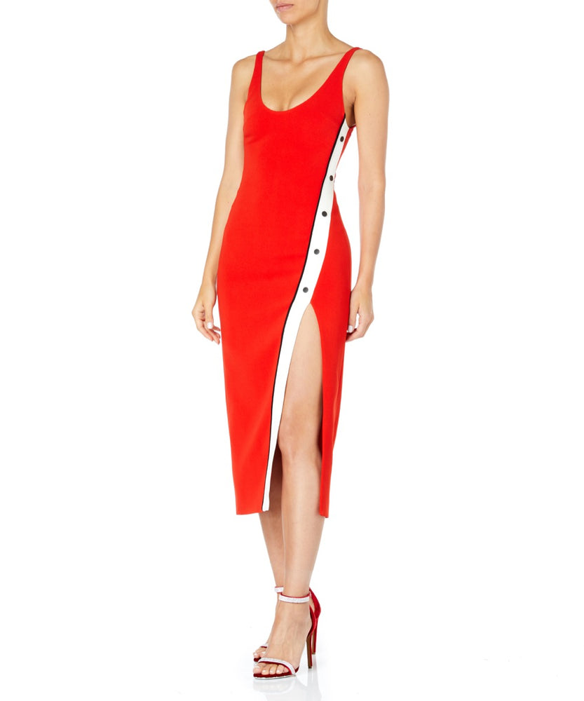 David Koma Slit Tank Women Red Dress