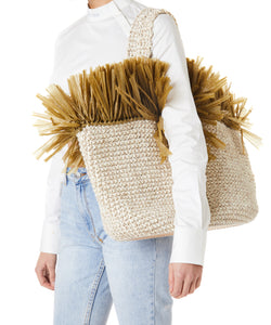 0711 Malibu Women Ivory Beach Bag