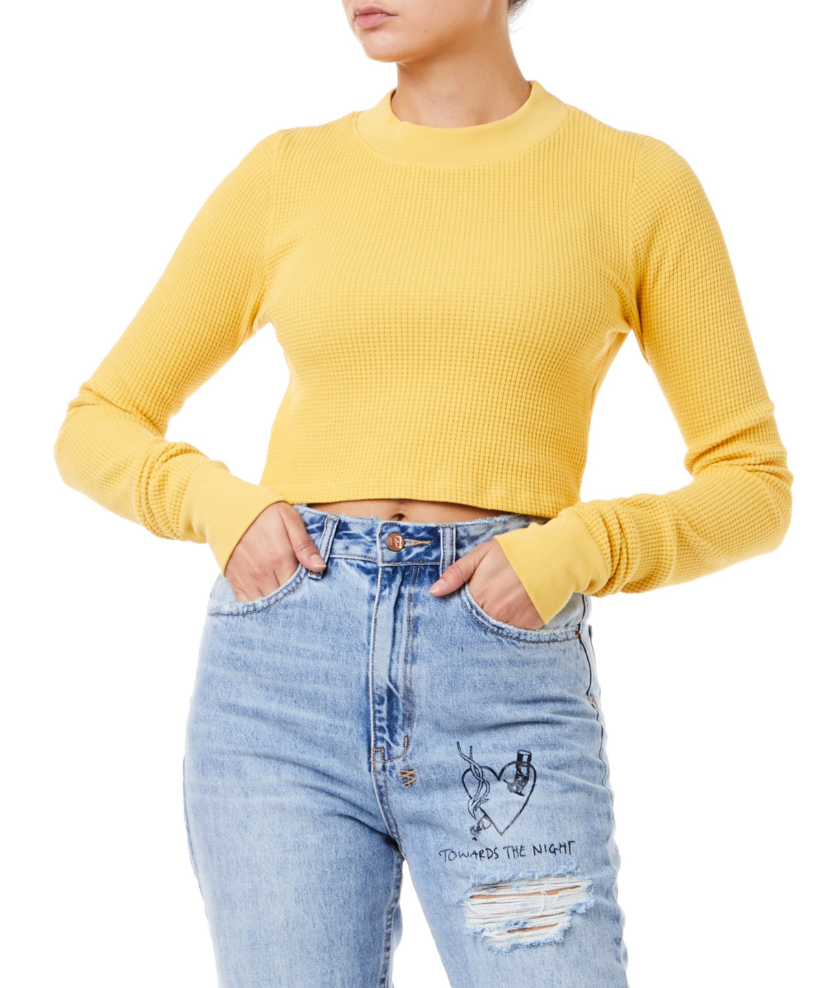 Cotton Citizen Monaco Crop Women Yellow Shirt