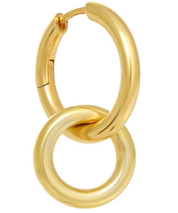 SINGLE SMALL DOUBLE HOOP EARRING