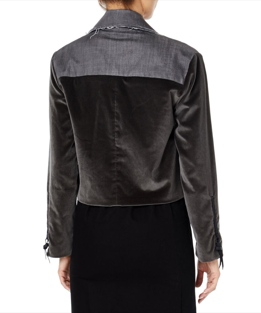 Pa5h Velvet Women Brown and Grey Jacket