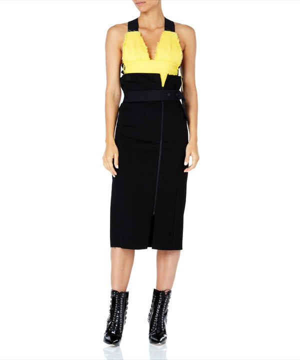 BLACK ZIP PENCIL SKIRT