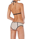 L'urv Sunshine Women Beige And Black Bikini