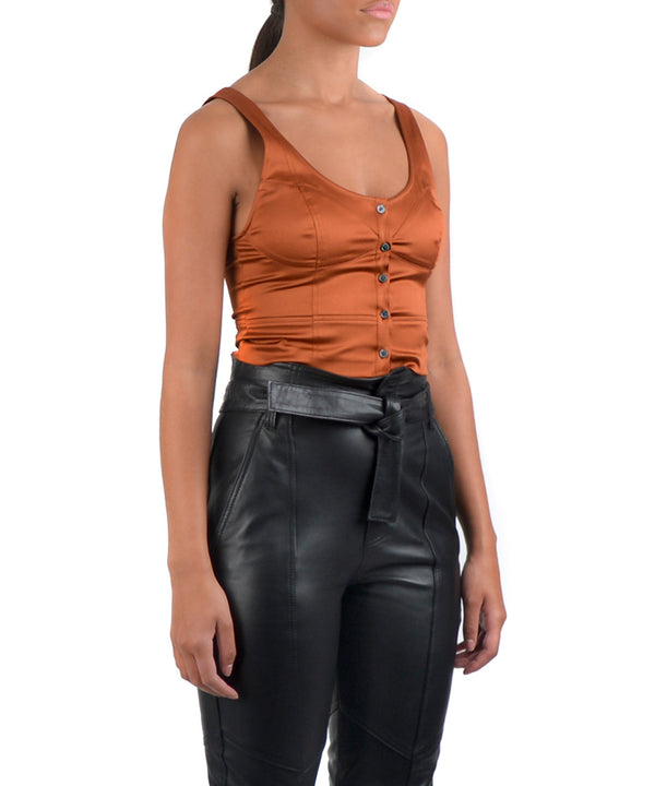 PORTIA CROP TOP -SIDE VIEW - THE BOX BOUTIQUE