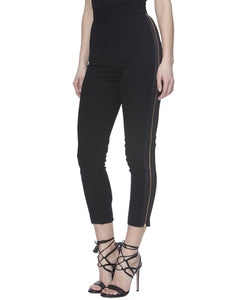 ALTHEA PANTS IN BLACK - SIDE VIEW - THE BOX BOUTIQUE