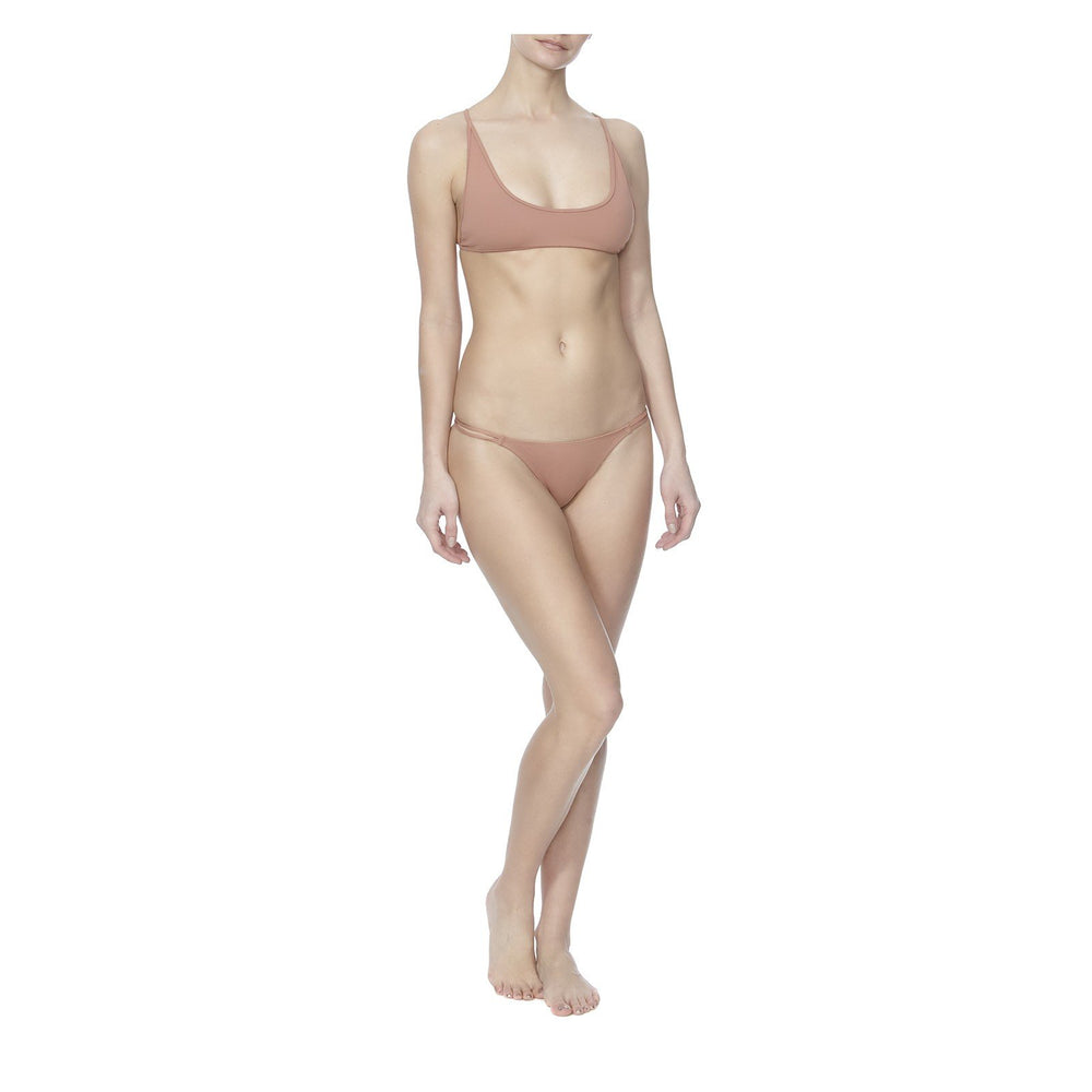 THE WHISKEY SOUR TOP AND THE SCREWDRIVER BRIEF IN TAN  -FRONT VIEW- THE BOX BOUTIQUE