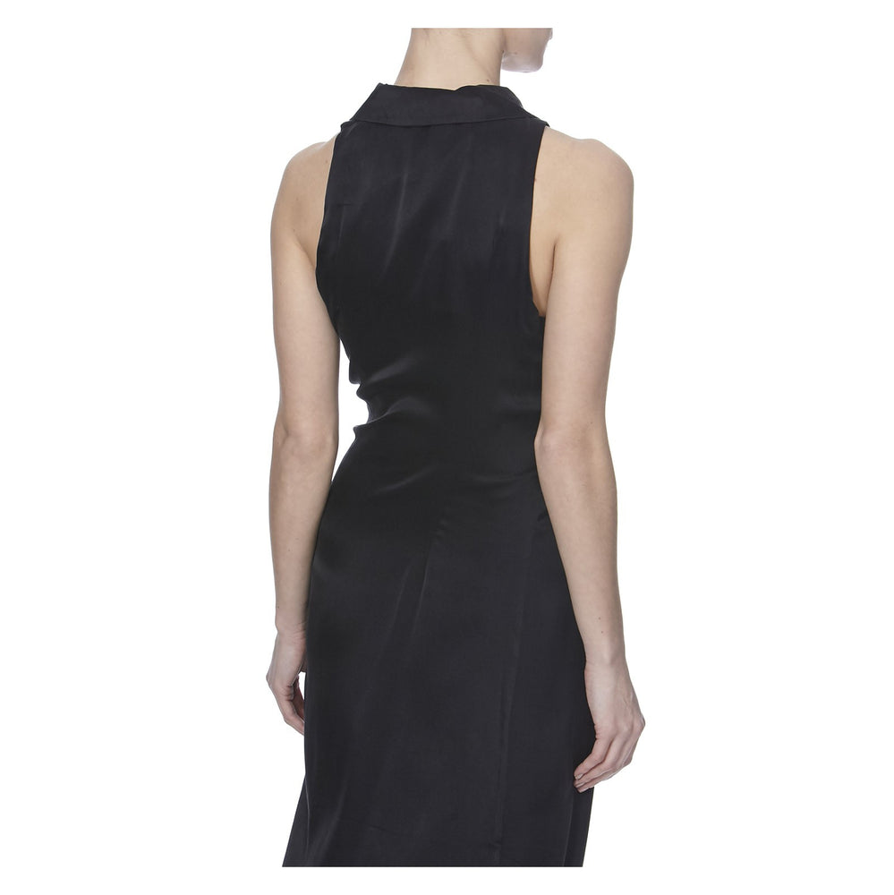 JAVANA SILK DRESS - BACK VIEW - THE BOX BOUTIQUE