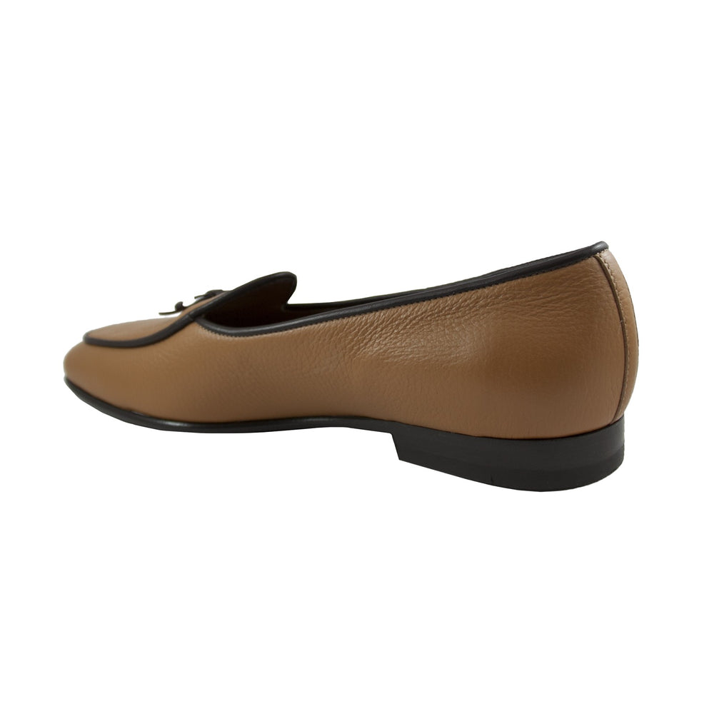 KENSINGTON LOAFERS IN COGNAC-BACK VIEW-THE BOX BOUTIQUE