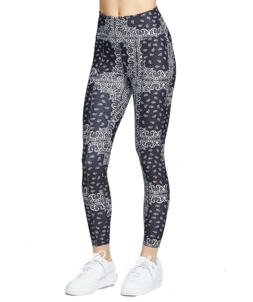 Year of Ours Bandana Rocky Leggings Black