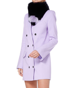 Charlotte Simone Bandit Women Black and Lilac Collar