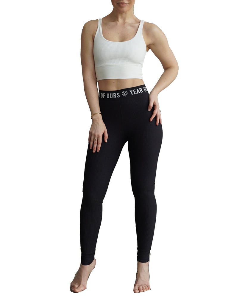 Year of Ours Thermal Skater Leggings Black