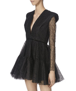 DIANA DRESS IN BLACK SIDE VIEW