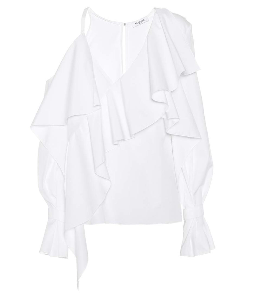Asymmetric Ruffles Top