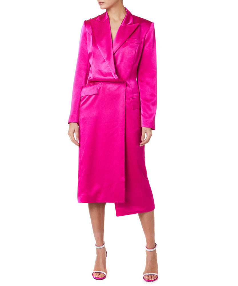 LONG BLAZER FUSCHIA