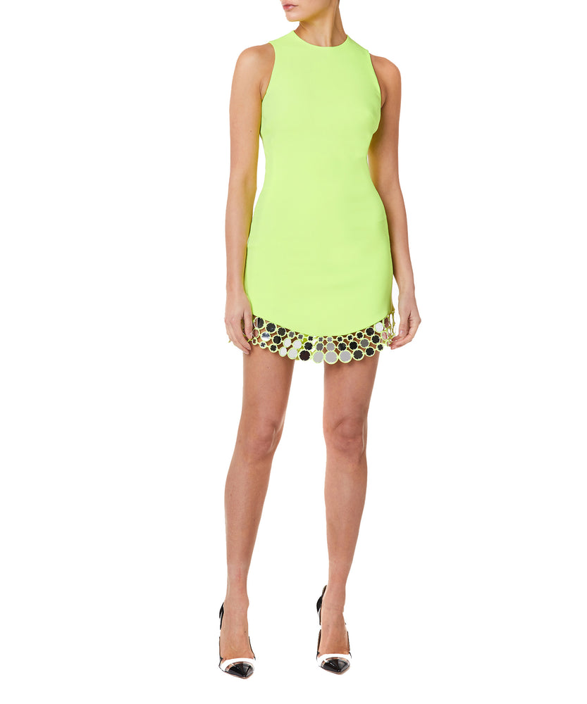 David Koma Laser-Cut Women Green Dress