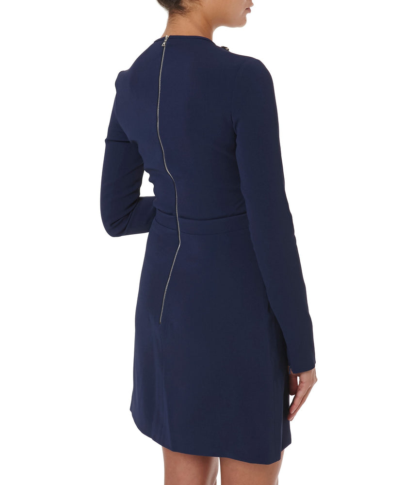 V-NECK LONG SLEEVE DRESS -BACK VIEW- THE BOX BOUTIQUE