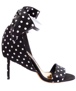 Bow Down Sandal in Polka Dot SIDE VIEW