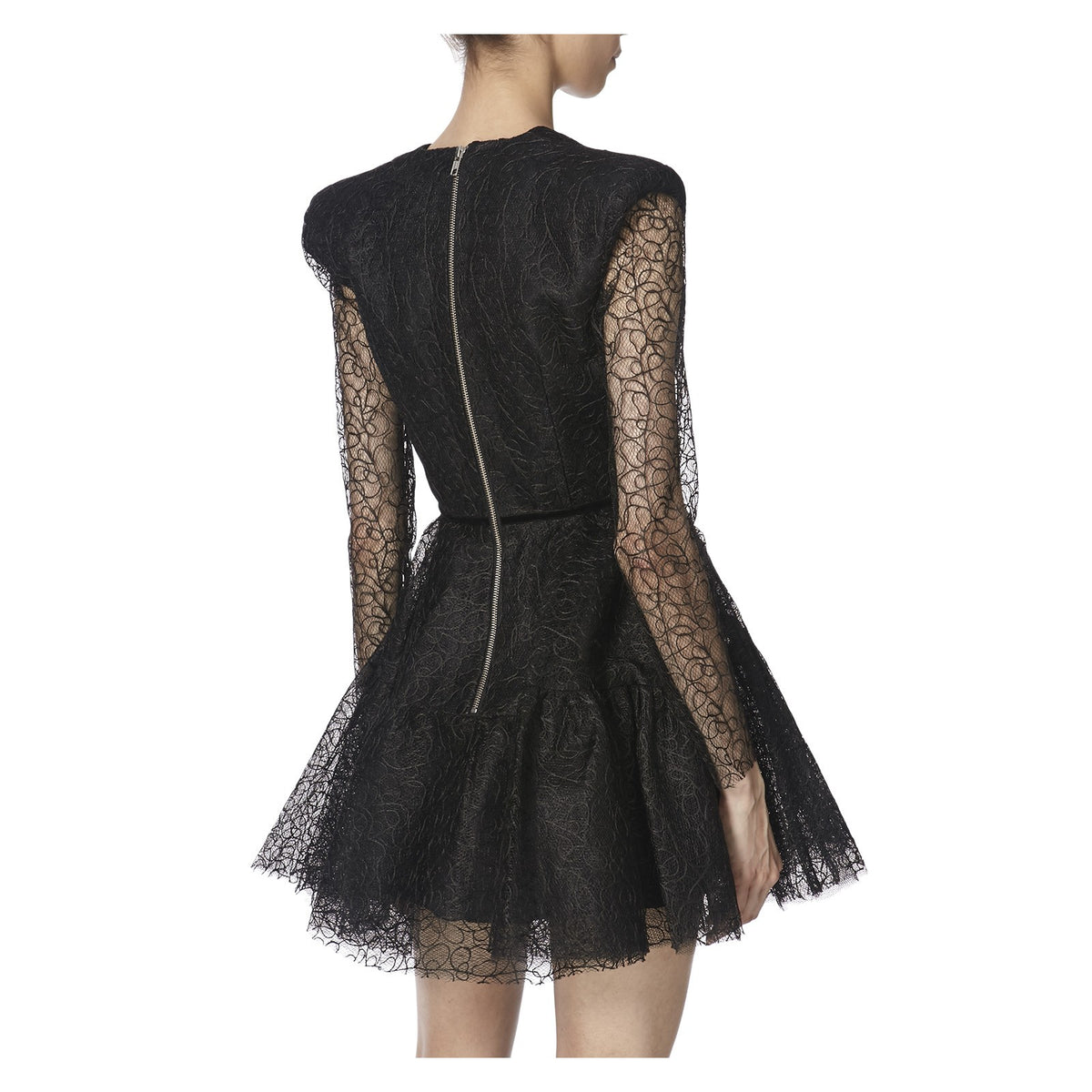 DIANA DRESS IN BLACK  BACK VIEW - THE BOX BOUTIQUE